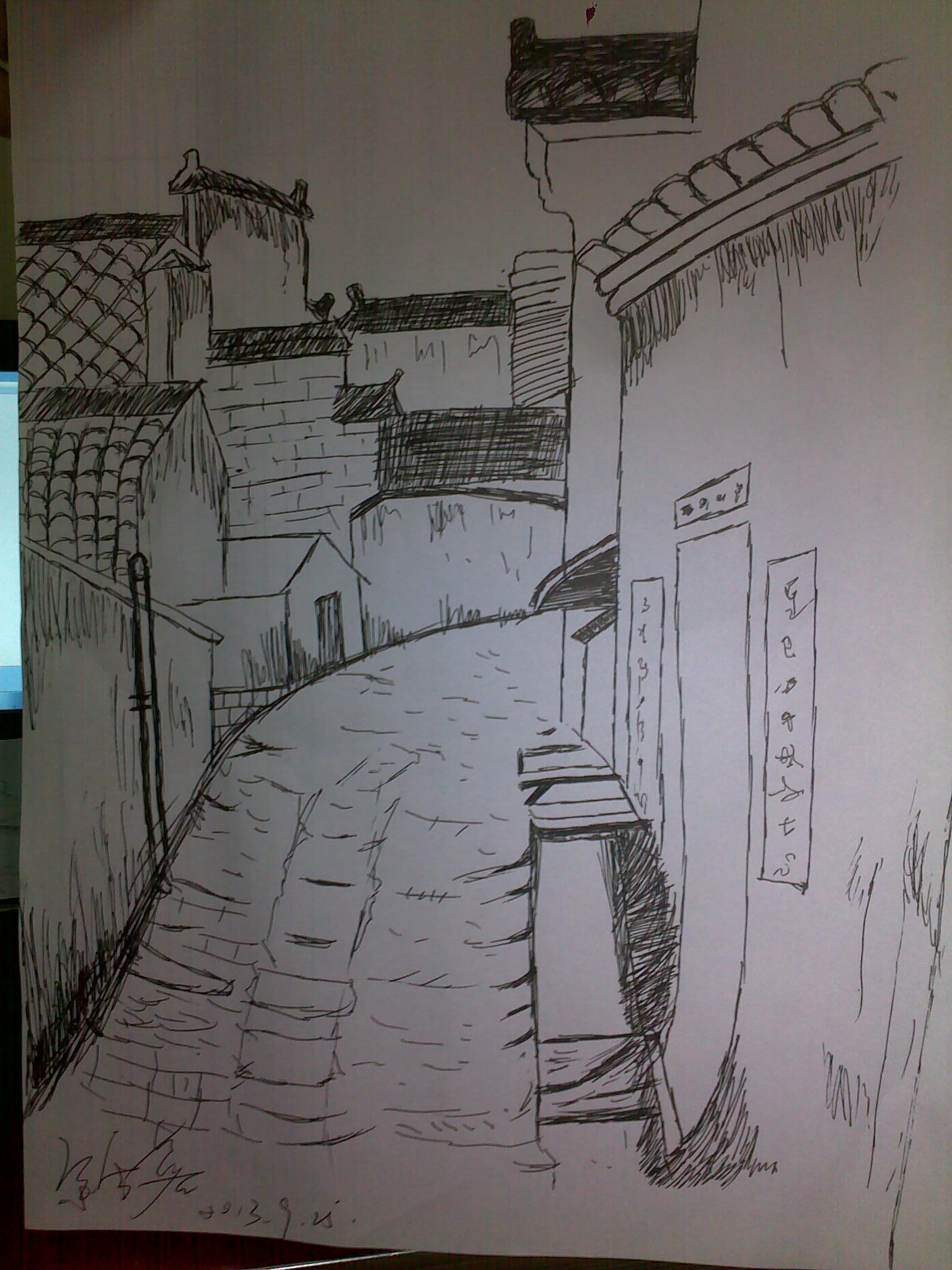 建筑设计线条手绘图图片展示_建筑设计线条手绘图