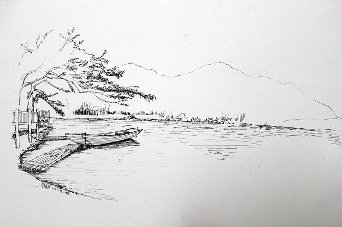 手绘速写风景树木设计图__绘画书法_文化艺术_设计