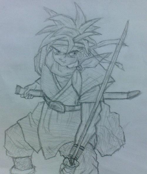 简单的动漫人物素描-铅笔画动漫人物的步骤/简单的画