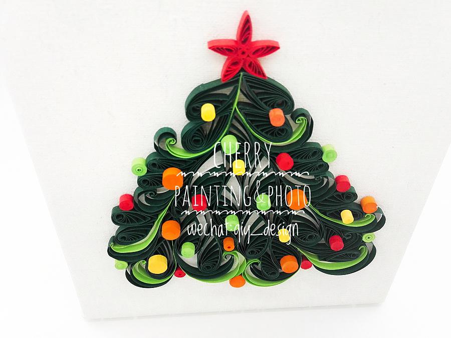 一棵小小的衍纸圣诞树 其他手工 手工艺 qiy