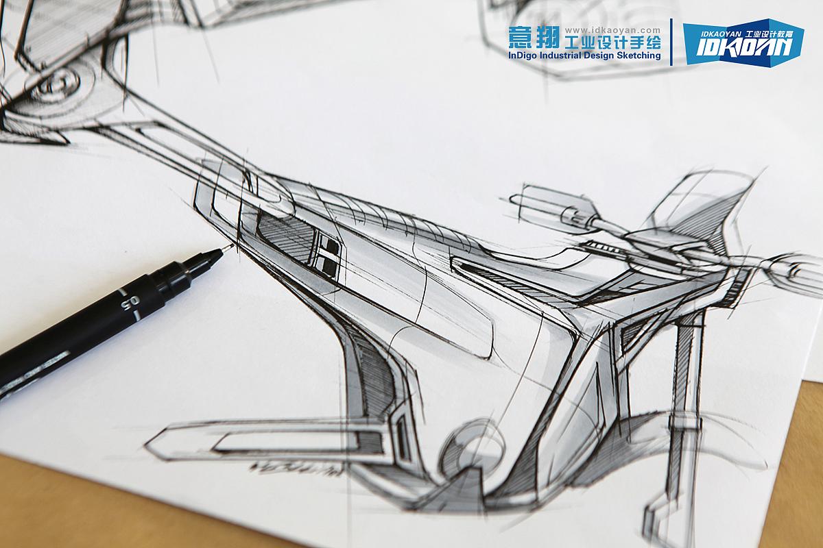 工业设计手绘线稿表达(适合考研,创意草图和ideation)图片