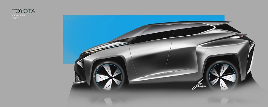 toyota concept 交通工具 工业/产品 红枫0115