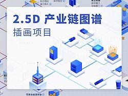 2.5D 产业链插画项目