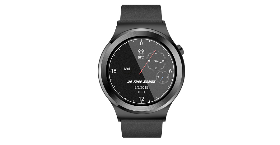 智能手表表盘设计-24 time zone