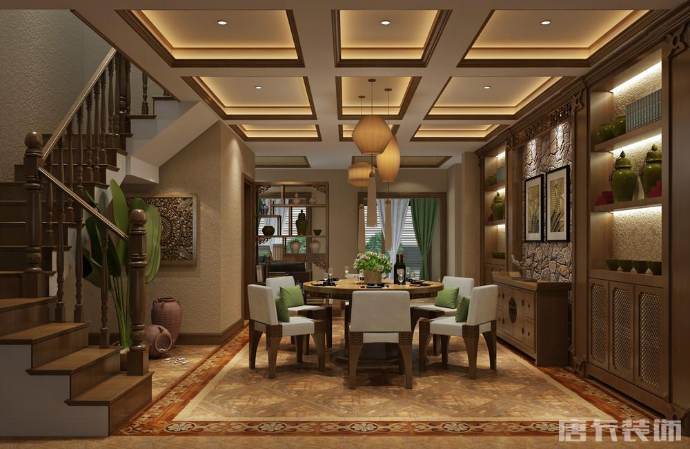 同景国际别墅-东南亚风格|空间|室内设计|唐卡装饰石