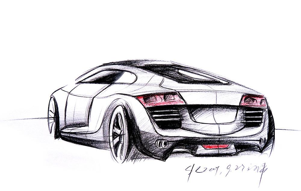 汽车草图 手绘