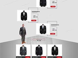 诺景男装专题网页