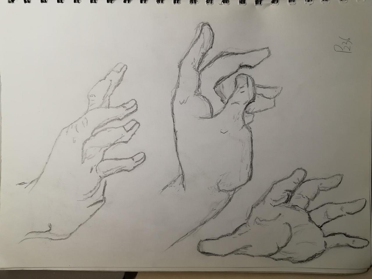 人体手绘练习