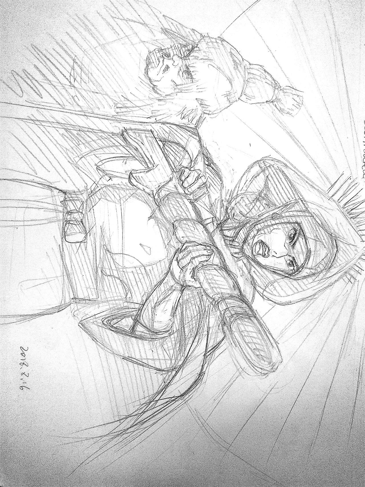 幽灵公主手绘漫画
