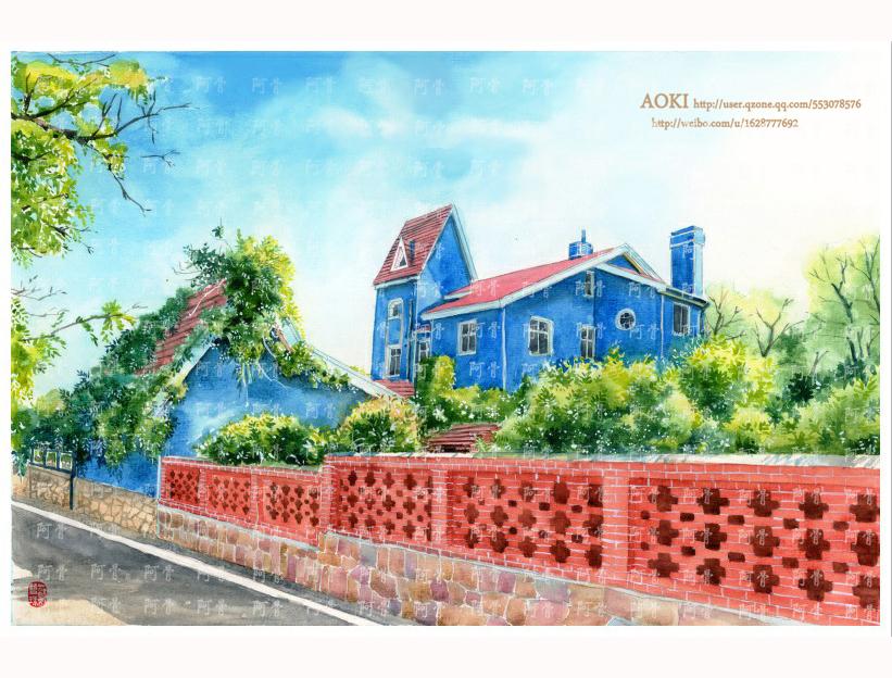 手绘城市系列——《山东青岛》