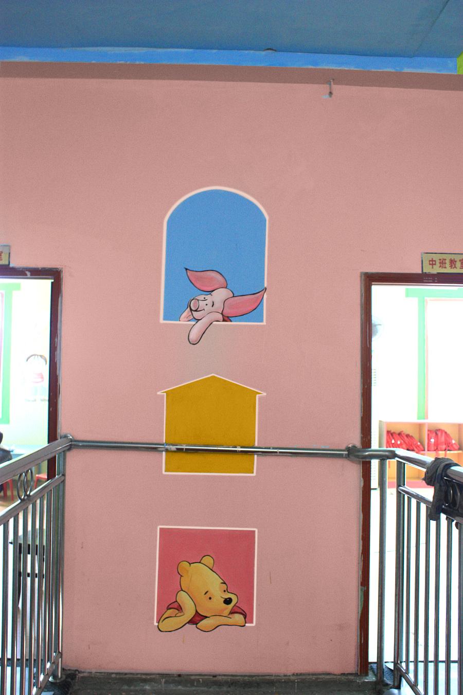 幼儿园楼梯墙面欧式设计效果图