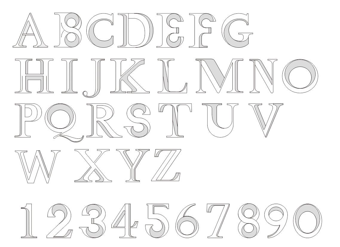 英文 字母 数字 创意