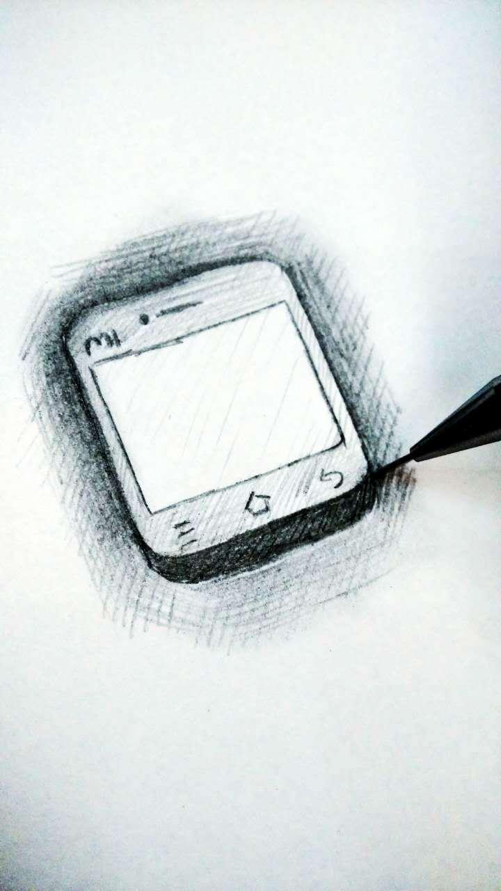 手绘手机图标