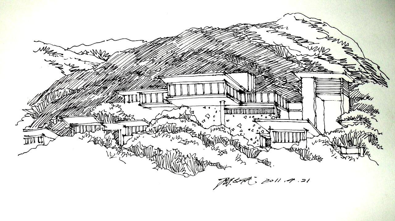景观手绘线稿