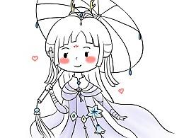 卡通剑三-蓬莱伞萝,唐门,凌太,道长~