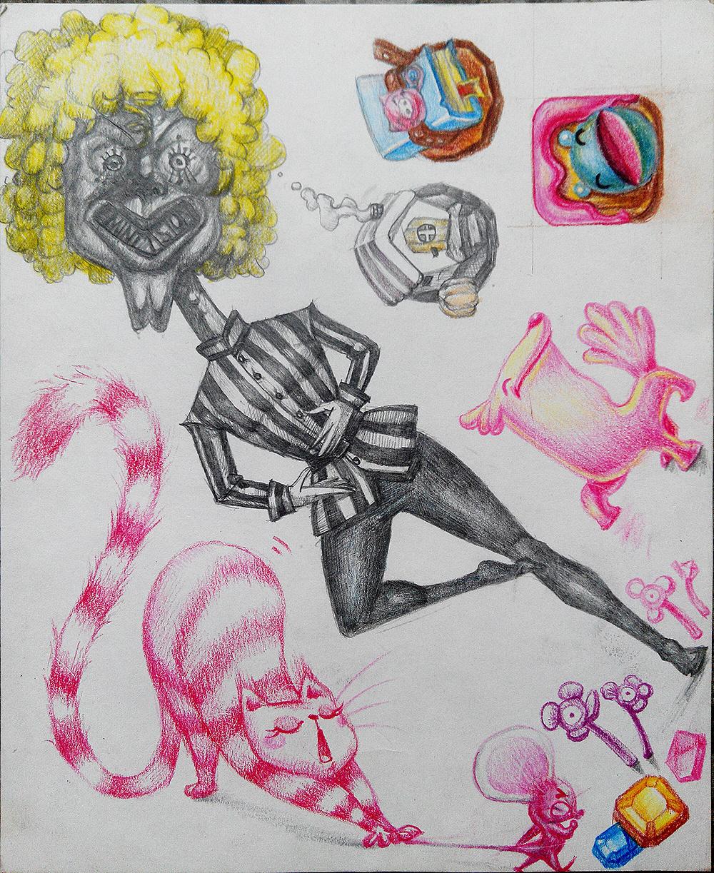 彩铅手绘|插画|插画习作|饭菜翔 - 原创作品 - 站酷