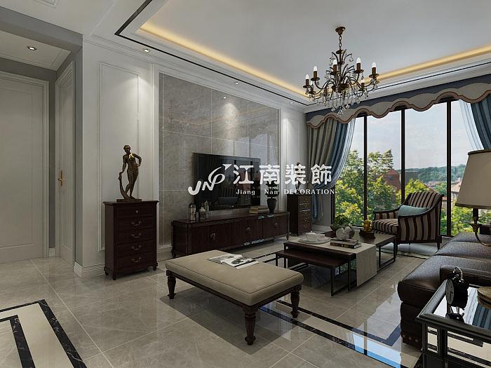 哈尔滨江南装饰公司汇智五洲城简美风格装修效果图