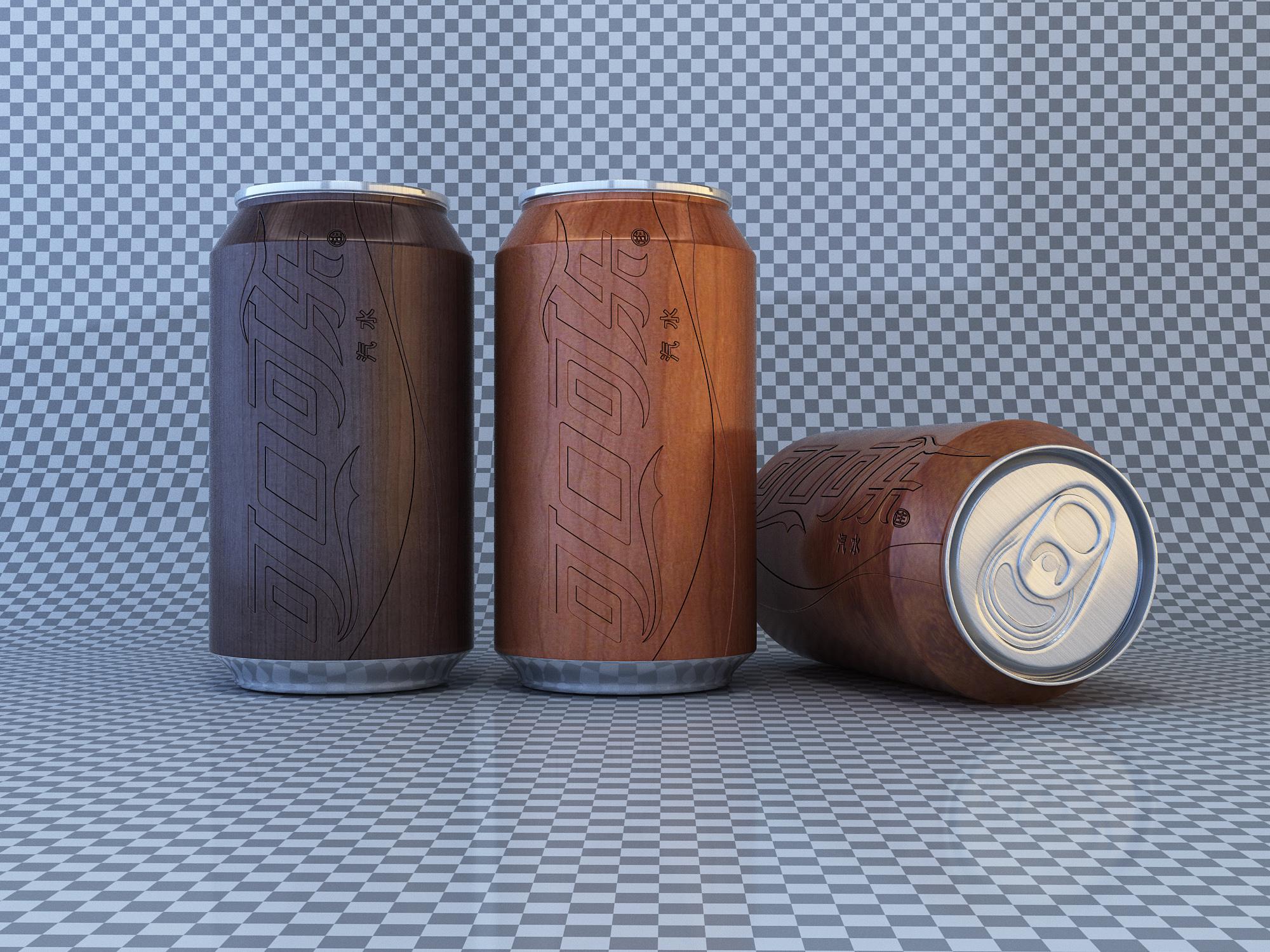 可乐灌装瓶包装设计图片