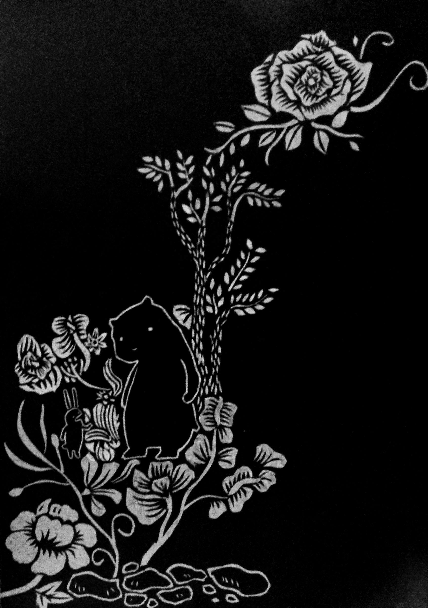 黑卡纸雕-插画
