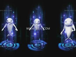 全息投影技术,裸眼3D投影,科技立体感,88vj素材网站