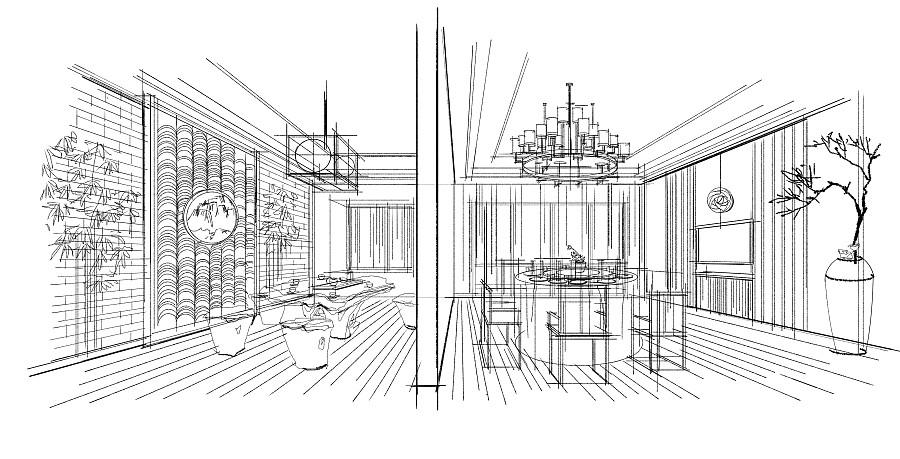 sketchbook pro 室内手绘概念方案《一》