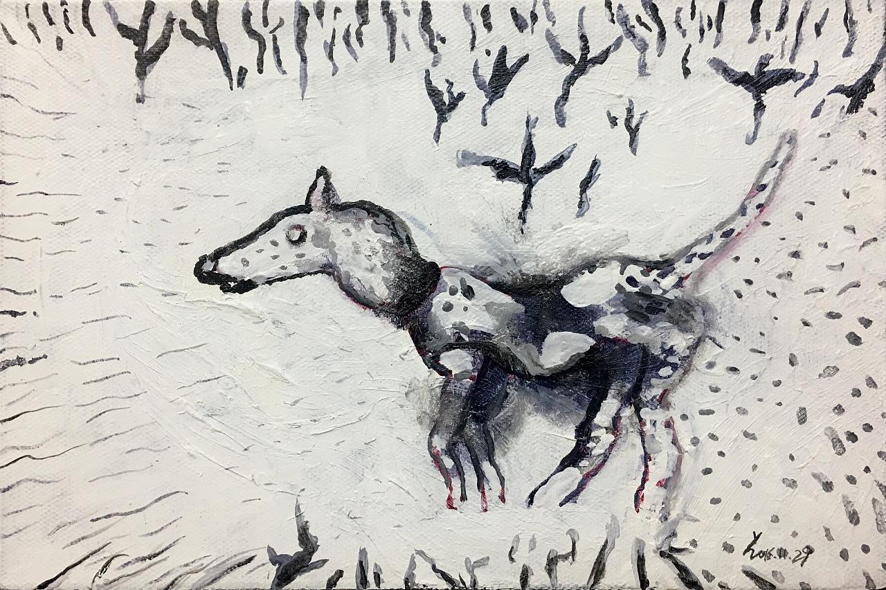 我的动物们|纯艺术|油画|地下室中人 - 原创作品