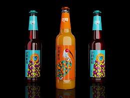 高鹏设计-果啤果汁饮料包装设计