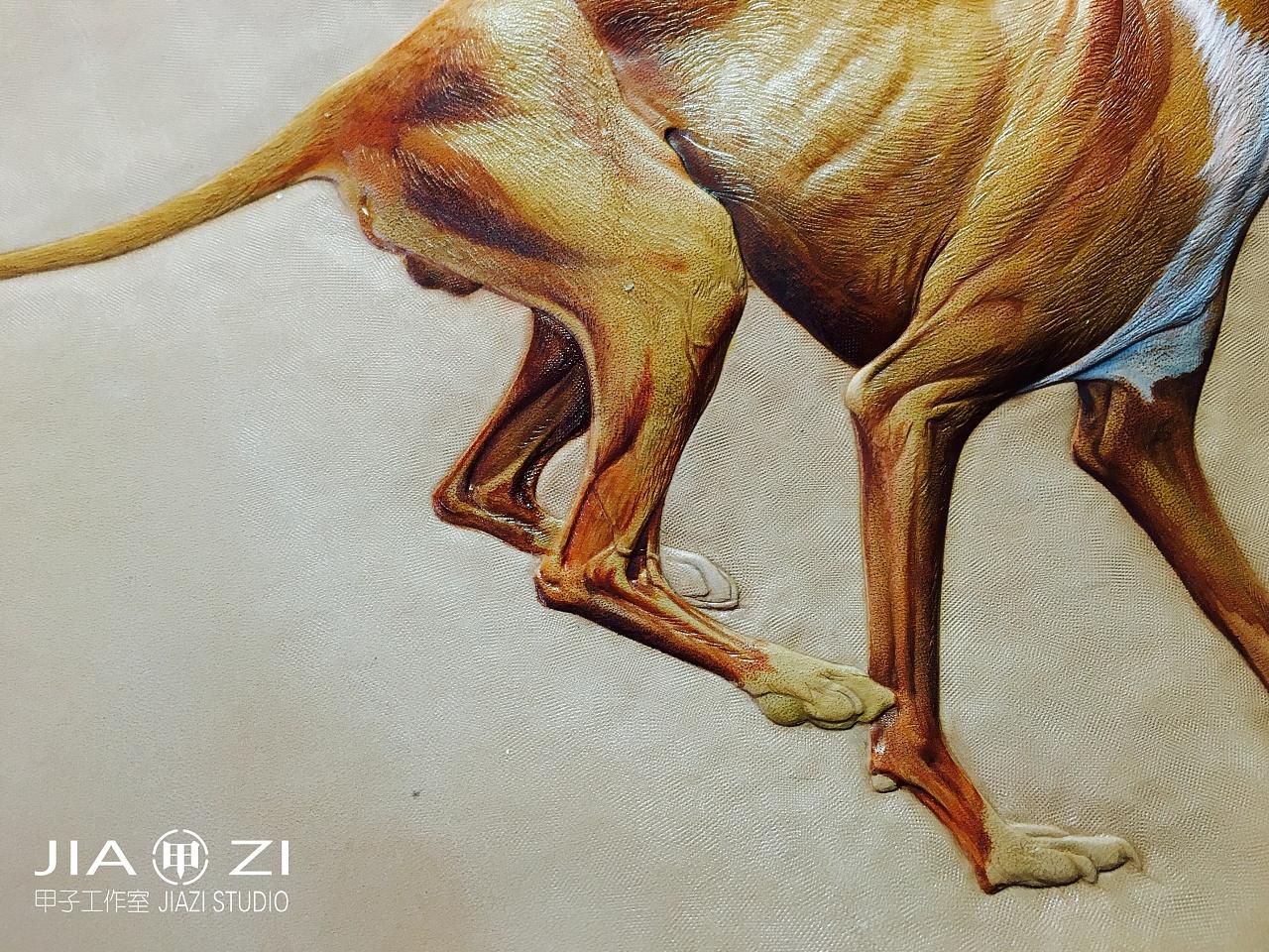 太原甲子工作室 动物皮雕习作