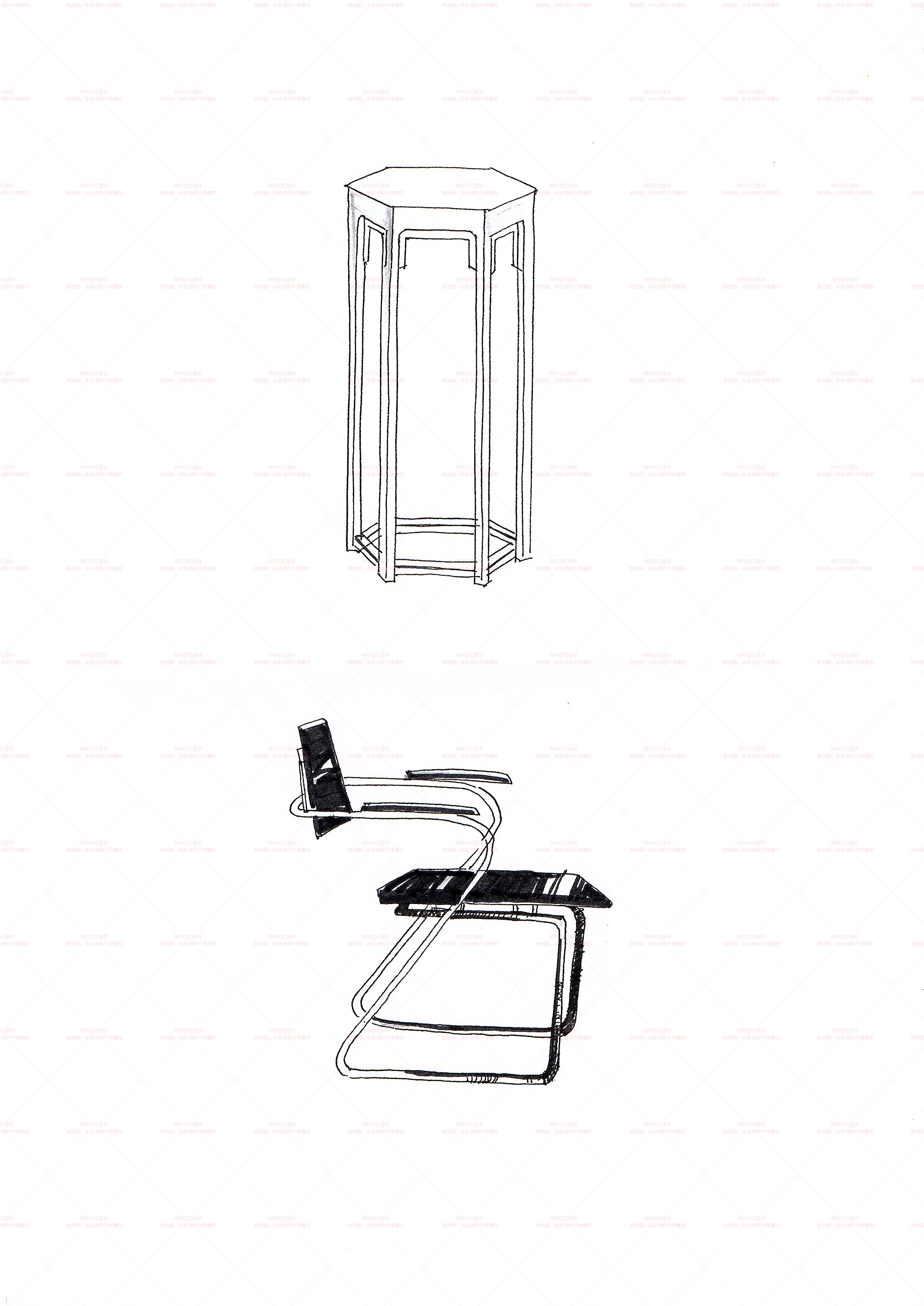 家具手绘|工业/产品|家具|pc巧克力 - 临摹作品