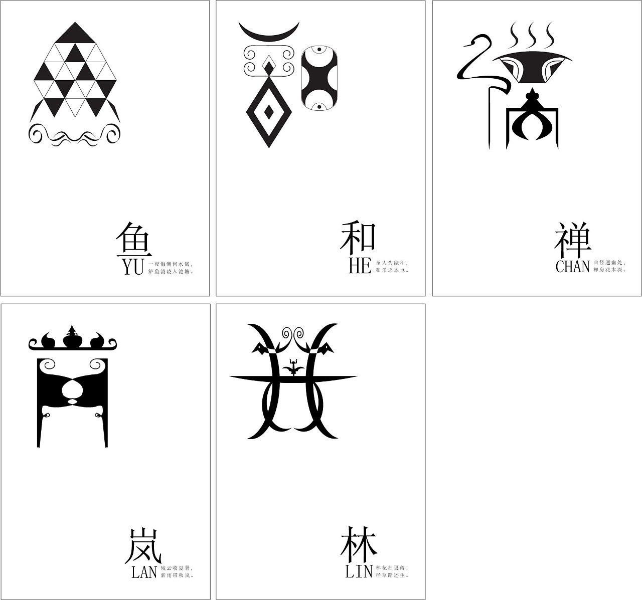 比较喜欢中国百家姓图腾,自己也根据对这几