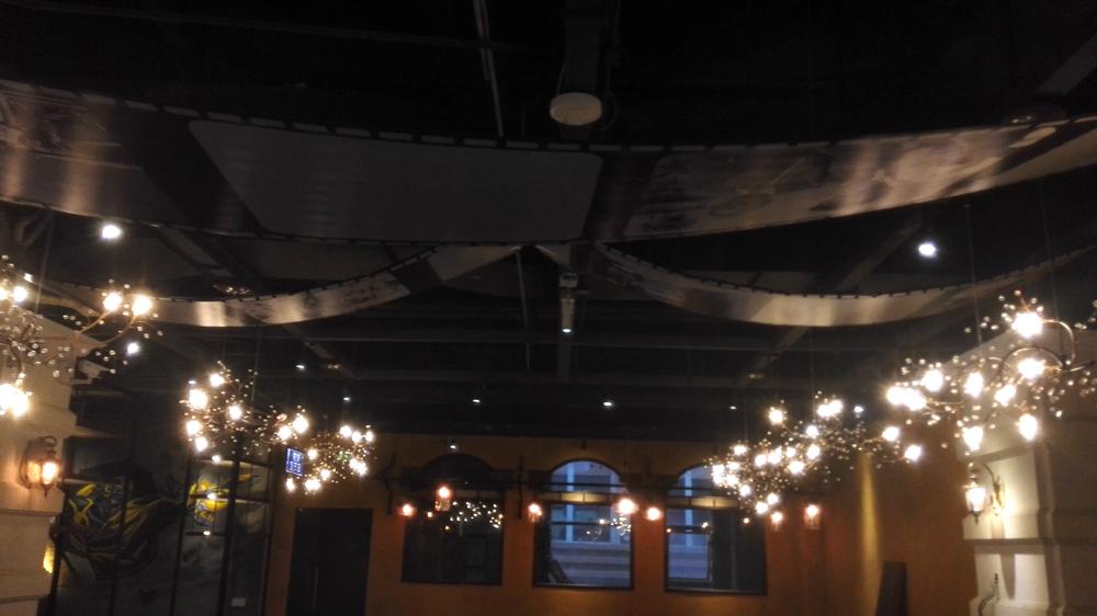 乐从彭厨电影主题餐厅手绘墙,墙