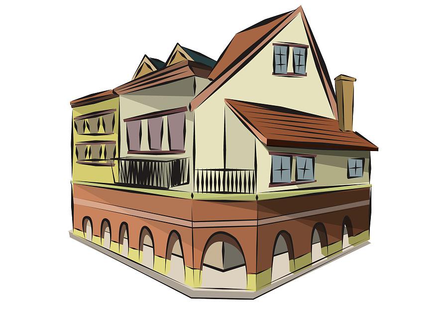 广州欧洲小镇欧式建筑插画(一些插画练习)|商业插画