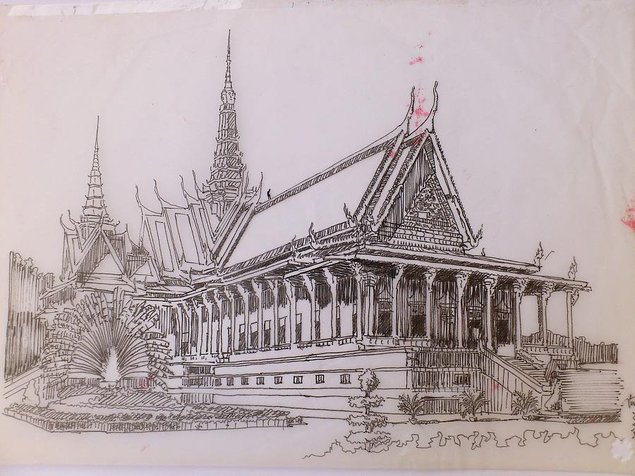 泰国大皇宫 手绘作品