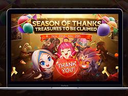 《MOBILE LEGENDS》Season of Thanks 感恩节活动页面