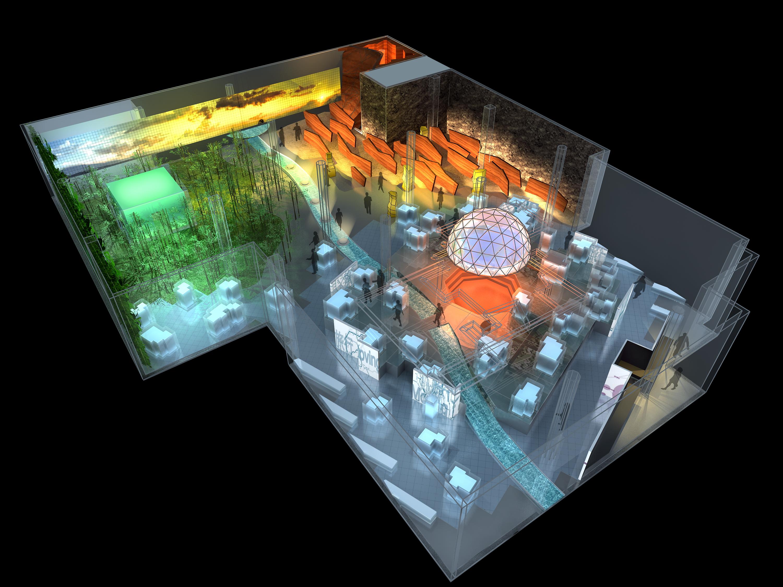 室内博物馆展厅效果图