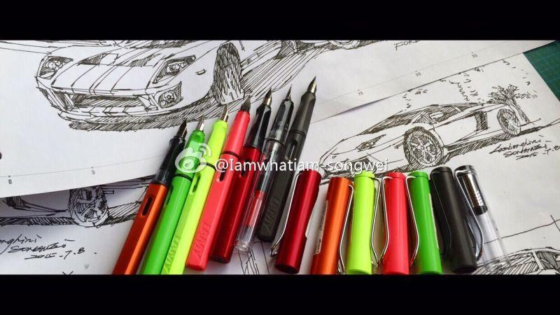 汽车快写手绘线稿|交通工具|工业/产品|songwei0317