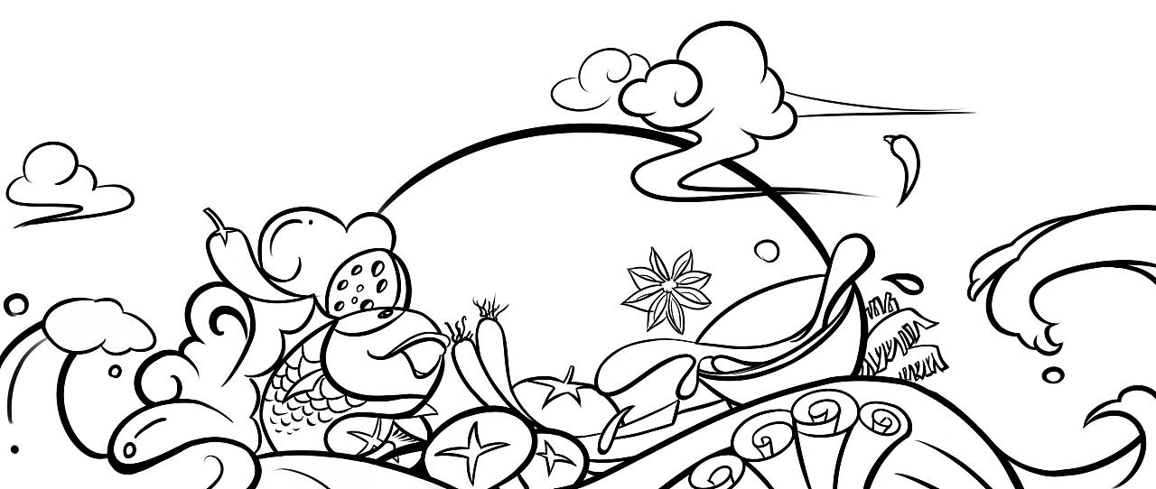 简笔画 设计 矢量 矢量图 手绘 素材 线稿 1280_542