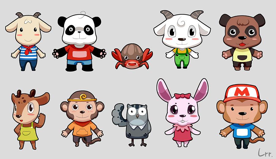 韩国卡通动物原图片