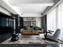 现代黑白风格复式公寓--摄影师陈兵