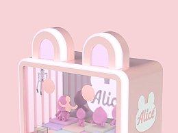 粉色兔子娃娃机