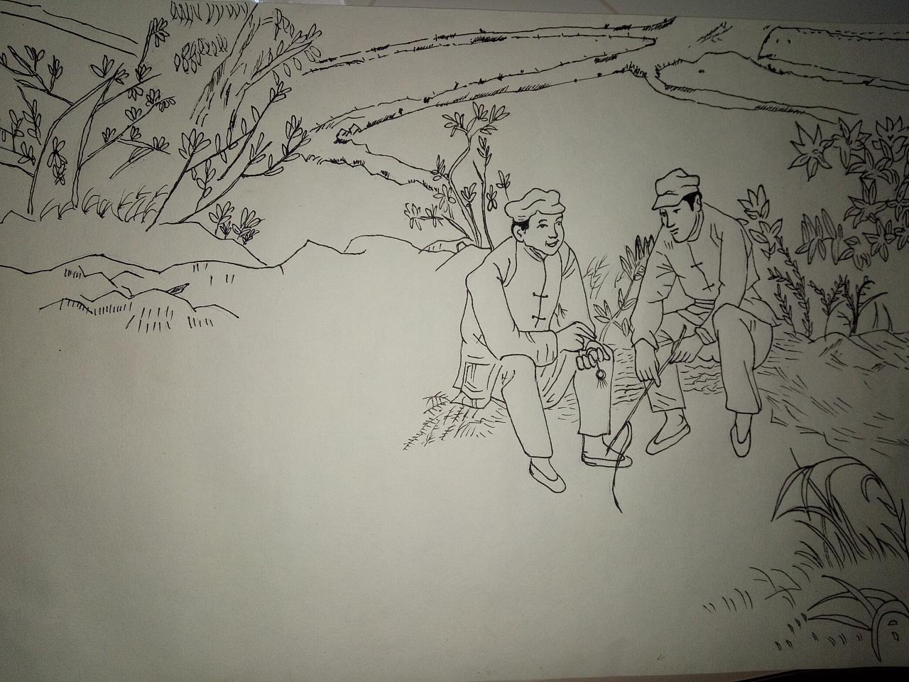 简单的钢笔画