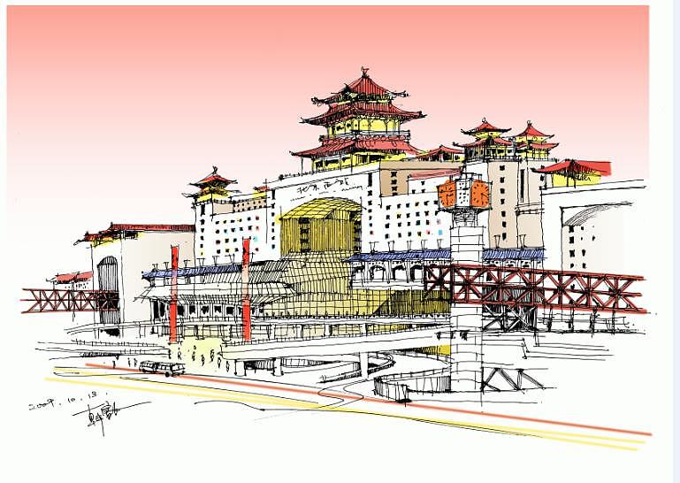 手绘北京|空间|建筑设计|hananzz - 原创作品 - 站酷