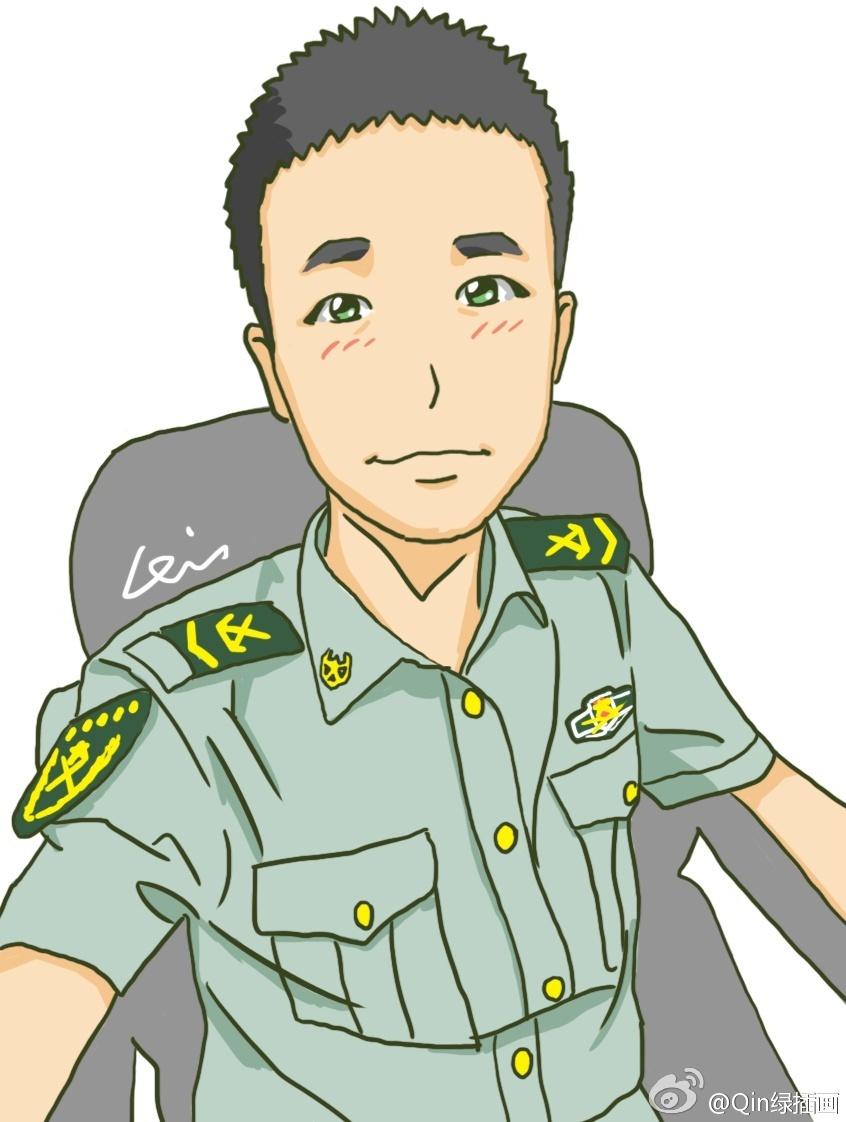 武警陆军军人兵哥哥各类卡通插画