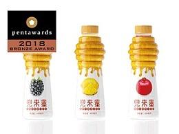 兜来蜜果汁饮料获得pentawards2018铜奖