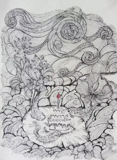 针管笔绘画