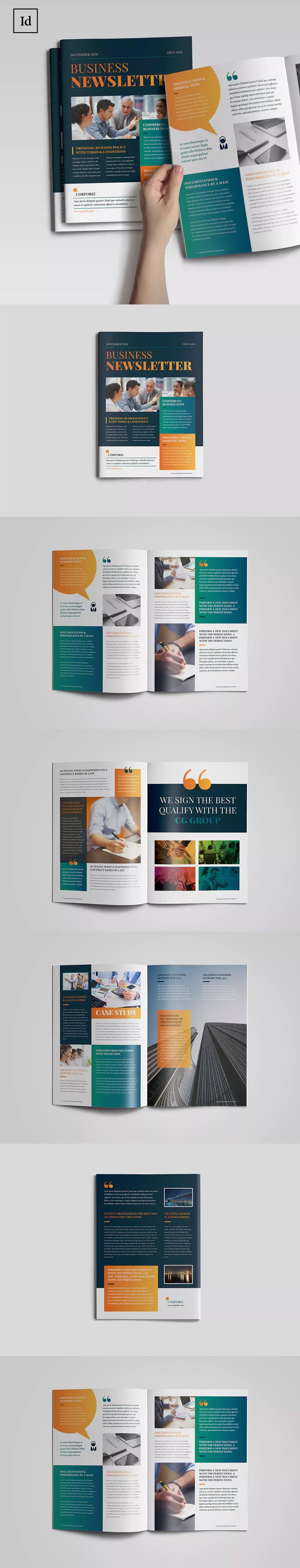66套企业宣传册产品画册杂志排版作品集id设计模板indesign素材图片