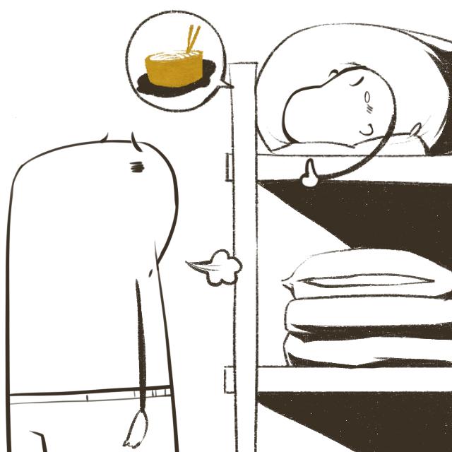 寝室百态-手绘漫画