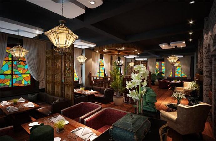 #自贡餐厅装修设计#老上海酒楼私房菜专业设室内设计风情v餐厅课的心得体会图片
