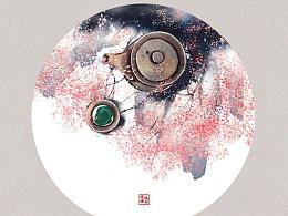 诗词画雅集(一)——圆框版