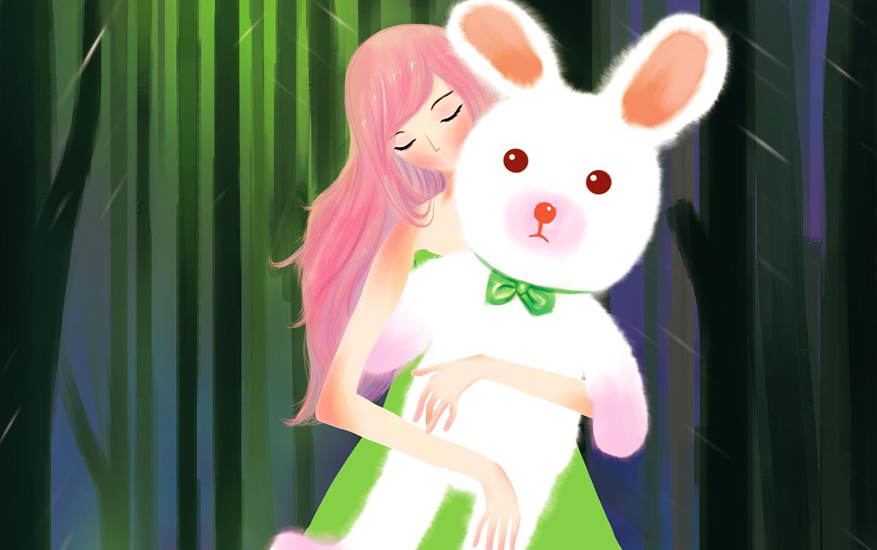 小清新卡通兔子头像